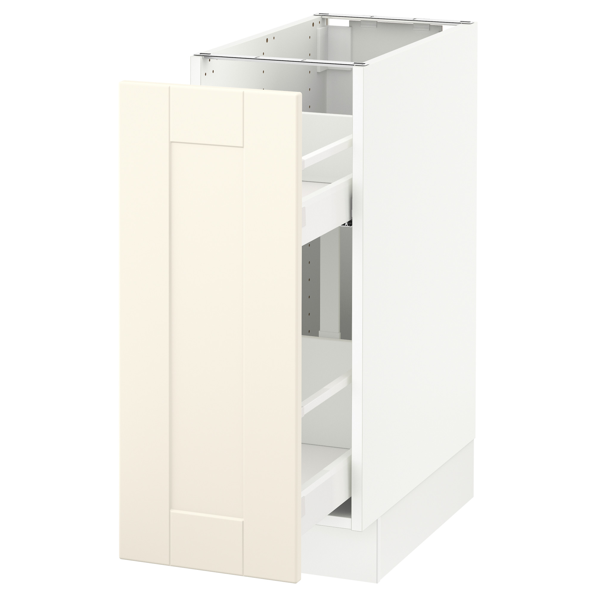ee3f6650df1b SEKTION Base cabinet with pull-out storage - white