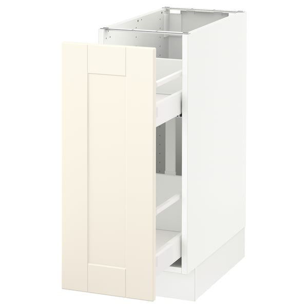 Base Cabinet With Pull Out Storage Sektion White Grimslöv Off