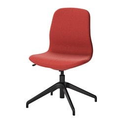 "LÅNGFJÄLL swivel chair, Gunnared brown-red brown-red, black Tested for: 243 lb Width: 26 3/8 "" Depth: 26 3/8 "" Tested for: 110 kg Width: 67 cm Depth: 67 cm"