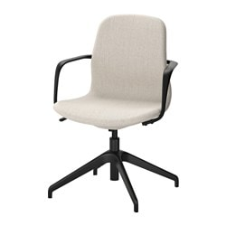 LÅNGFJÄLL swivel chair, Gunnared beige, black