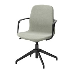 LÅNGFJÄLL swivel chair, Gunnared light green, black Tested for: 110 kg Width: 67 cm Depth: 67 cm