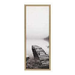 "BJÖRKSTA picture and frame, still waters, brass color Width: 55 "" Height: 22 "" Width: 140 cm Height: 56 cm"