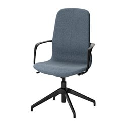 Superbe LÅNGFJÄLL Swivel Chair, Gunnared Blue, ...