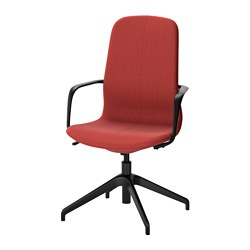 "LÅNGFJÄLL swivel chair, Gunnared brown-red, black Tested for: 243 lb Width: 26 3/8 "" Depth: 26 3/8 "" Tested for: 110 kg Width: 67 cm Depth: 67 cm"