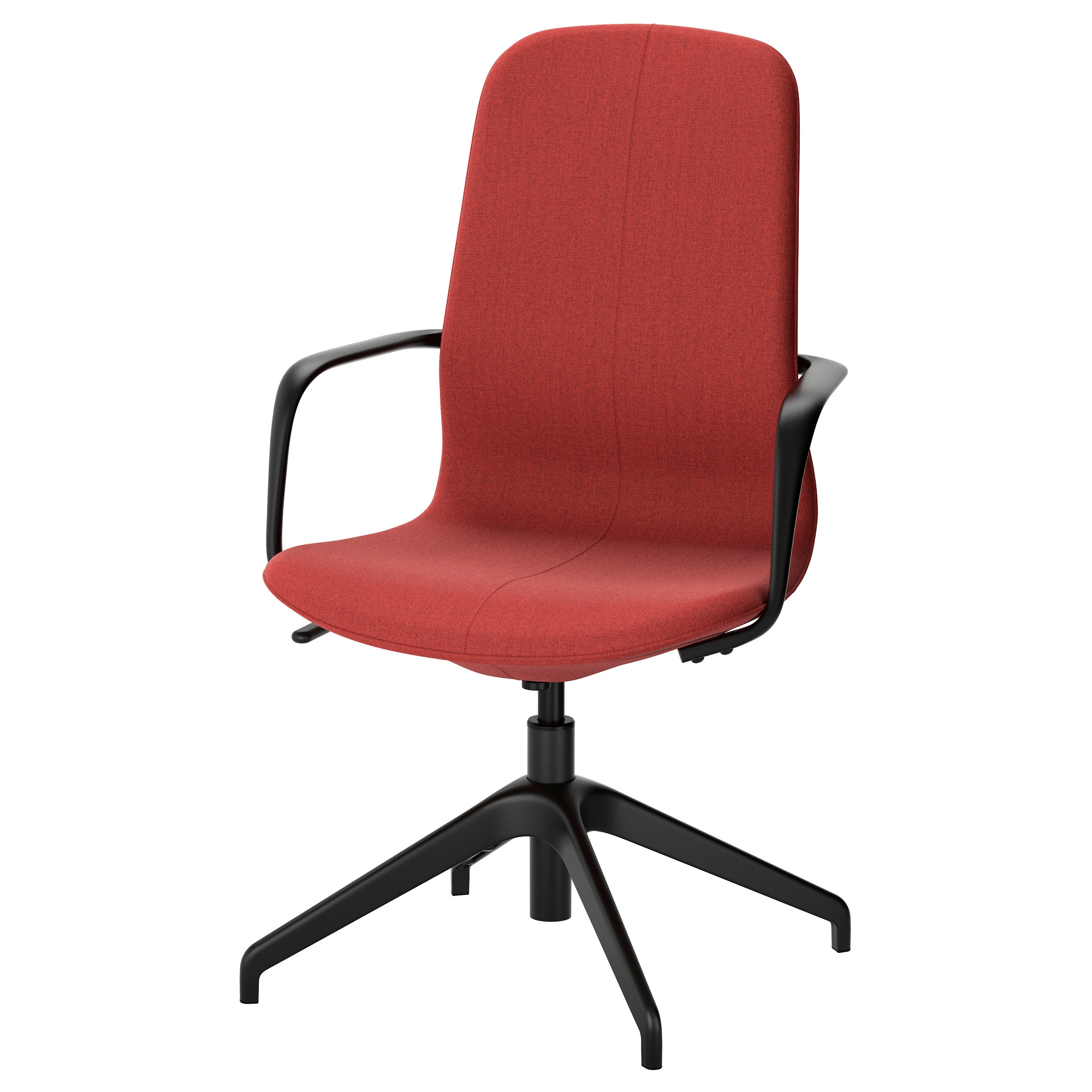 ikea red office chair. lngfjll swivel chair gunnared brownred black tested for 243 lb width ikea red office f