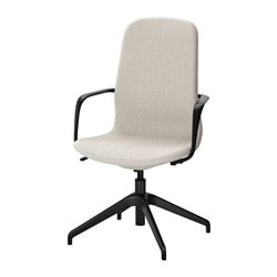 "LÅNGFJÄLL swivel chair, Gunnared beige, black Tested for: 243 lb Width: 26 3/8 "" Depth: 26 3/8 "" Tested for: 110 kg Width: 67 cm Depth: 67 cm"