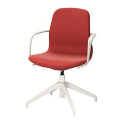 "LÅNGFJÄLL swivel chair, Gunnared brown-red brown-red, white Tested for: 243 lb Width: 26 3/8 "" Depth: 26 3/8 "" Tested for: 110 kg Width: 67 cm Depth: 67 cm"