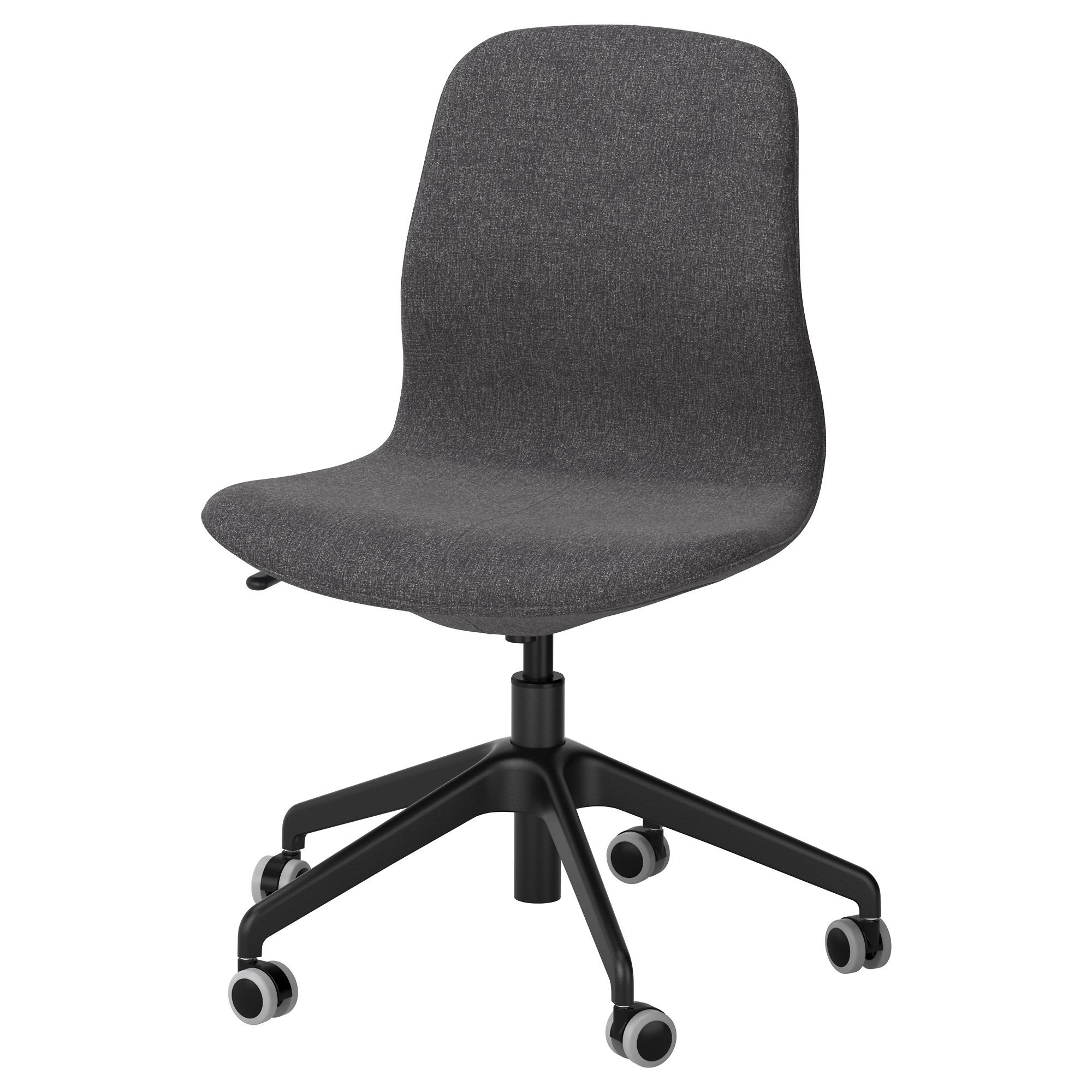Black and white office chair - L Ngfj Ll Swivel Chair Gunnared Dark Gray Black Tested For 243 Lb Width