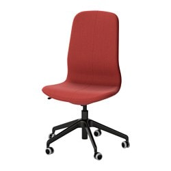 "LÅNGFJÄLL swivel chair, Gunnared brown-red, black Tested for: 243 lb Width: 26 3/4 "" Depth: 26 3/4 "" Tested for: 110 kg Width: 68 cm Depth: 68 cm"