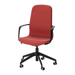 LÅNGFJÄLL swivel chair, Gunnared brown-red brown-red, black