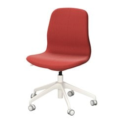 "LÅNGFJÄLL swivel chair, Gunnared brown-red brown-red, white Tested for: 243 lb Width: 26 3/4 "" Depth: 26 3/4 "" Tested for: 110 kg Width: 68 cm Depth: 68 cm"