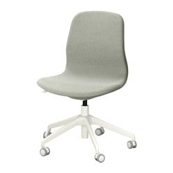 LÅNGFJÄLL swivel chair, Gunnared light green, white Tested for: 110 kg Width: 68 cm Depth: 68 cm