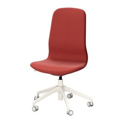"LÅNGFJÄLL swivel chair, Gunnared brown-red, white Tested for: 243 lb Width: 26 3/4 "" Depth: 26 3/4 "" Tested for: 110 kg Width: 68 cm Depth: 68 cm"
