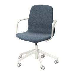 LÅNGFJÄLL, Swivel chair, Gunnared blue, white