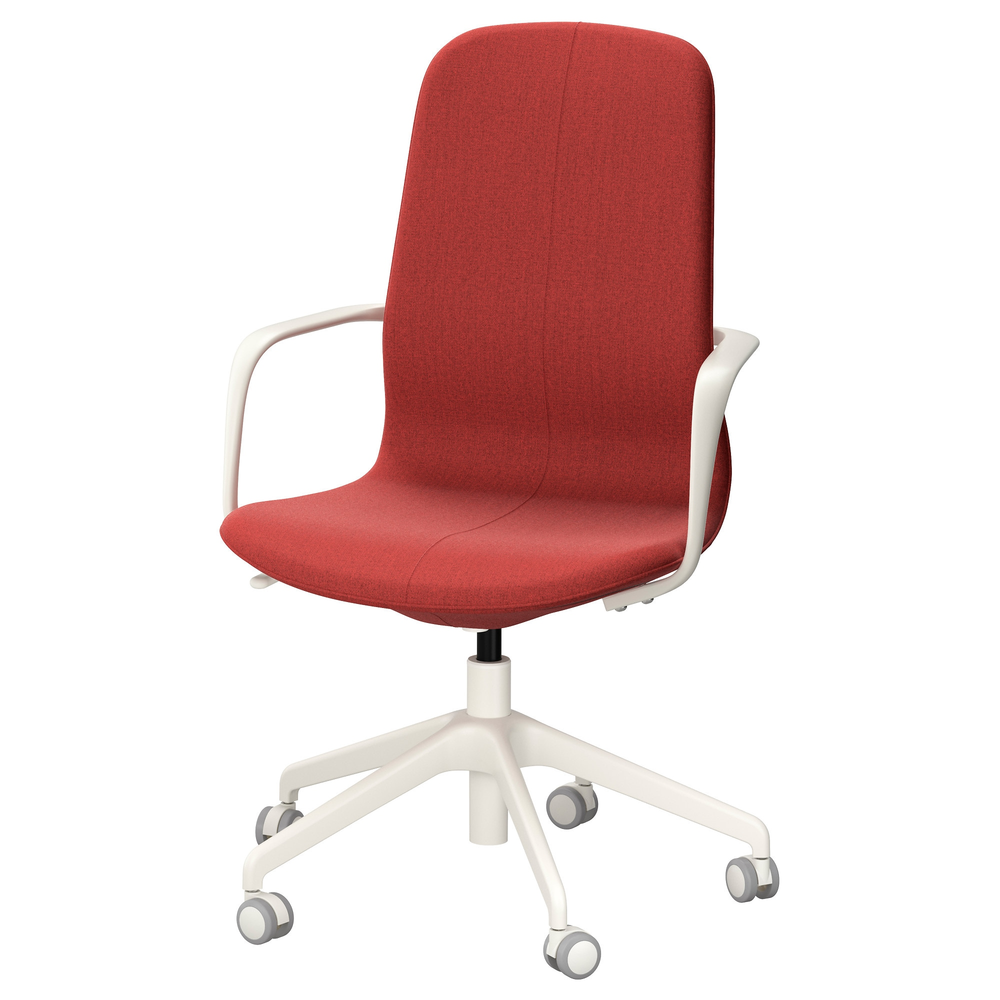 LÅNGFJÄLL Swivel Chair, Gunnared Brown Red Brown Red, White Tested For: