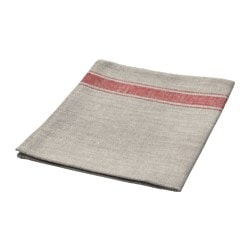 VARDAGEN tea towel, beige, red Length: 70 cm Width: 50 cm Package quantity: 1 pack