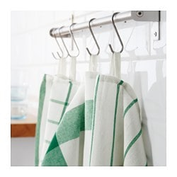 ELLY, Dish towel, white, green