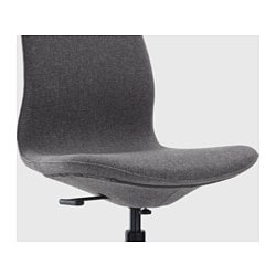 Charmant LÅNGFJÄLL Swivel Chair, Gunnared Dark Gray, Black