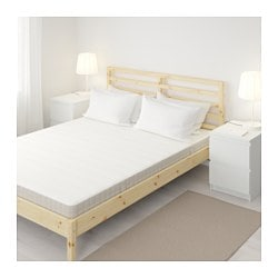 HASVÅG spring mattress, medium firm, beige