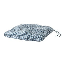 YTTERÖN chair cushion, outdoor, blue Width: 40 cm Depth: 40 cm Thickness: 8 cm