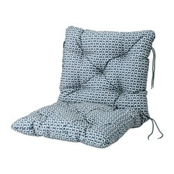 YTTERÖN seat/back cushion, outdoor, blue Length: 92 cm Width: 50 cm Back height: 45 cm