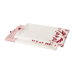 VINTER 2016 tea towel, white, red Length: 70 cm Width: 50 cm Package quantity: 2 pack