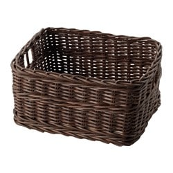 GABBIG basket, dark brown