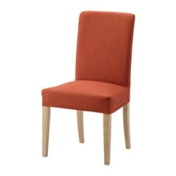 HENRIKSDAL chair, birch, Skiftebo dark orange Tested for: 110 kg Width: 51 cm Depth: 58 cm