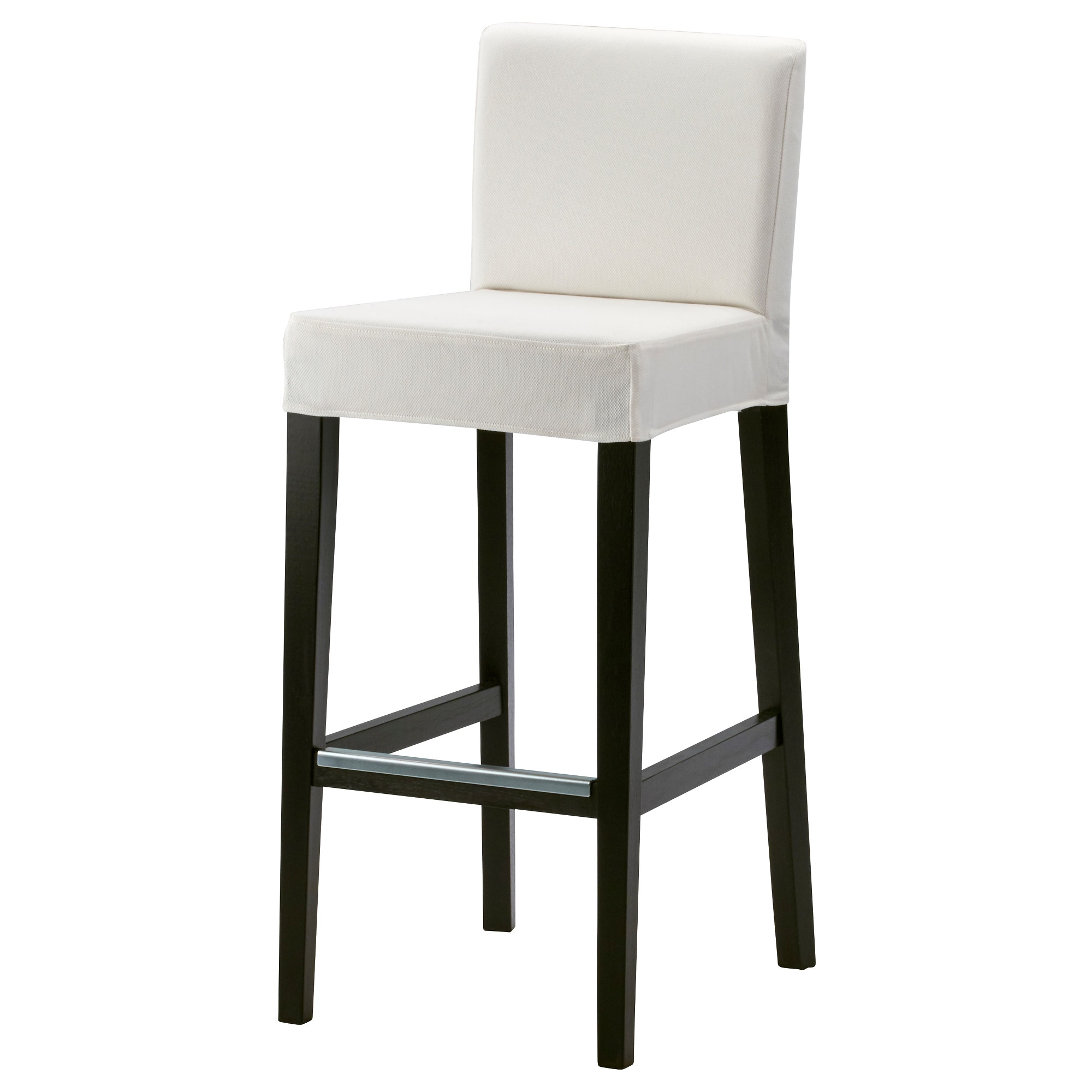 HENRIKSDAL bar stool with backrest, brown-black, Grsbo white Tested for:  220