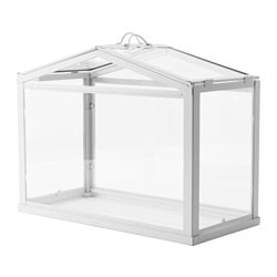SOCKER greenhouse, in/outdoor white Width: 45 cm Depth: 22 cm Height: 35 cm