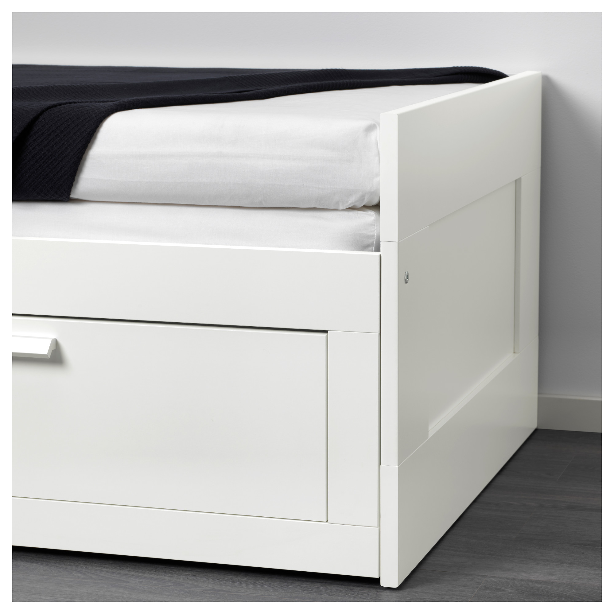 BRIMNES Day bed frame with 2 drawers IKEA