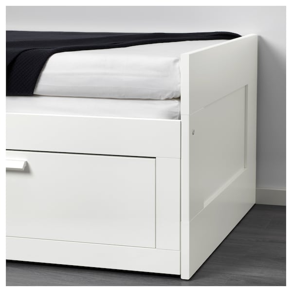 Day Bed Frame With 2 Drawers Brimnes White
