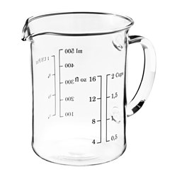 VARDAGEN, Measuring cup, glass