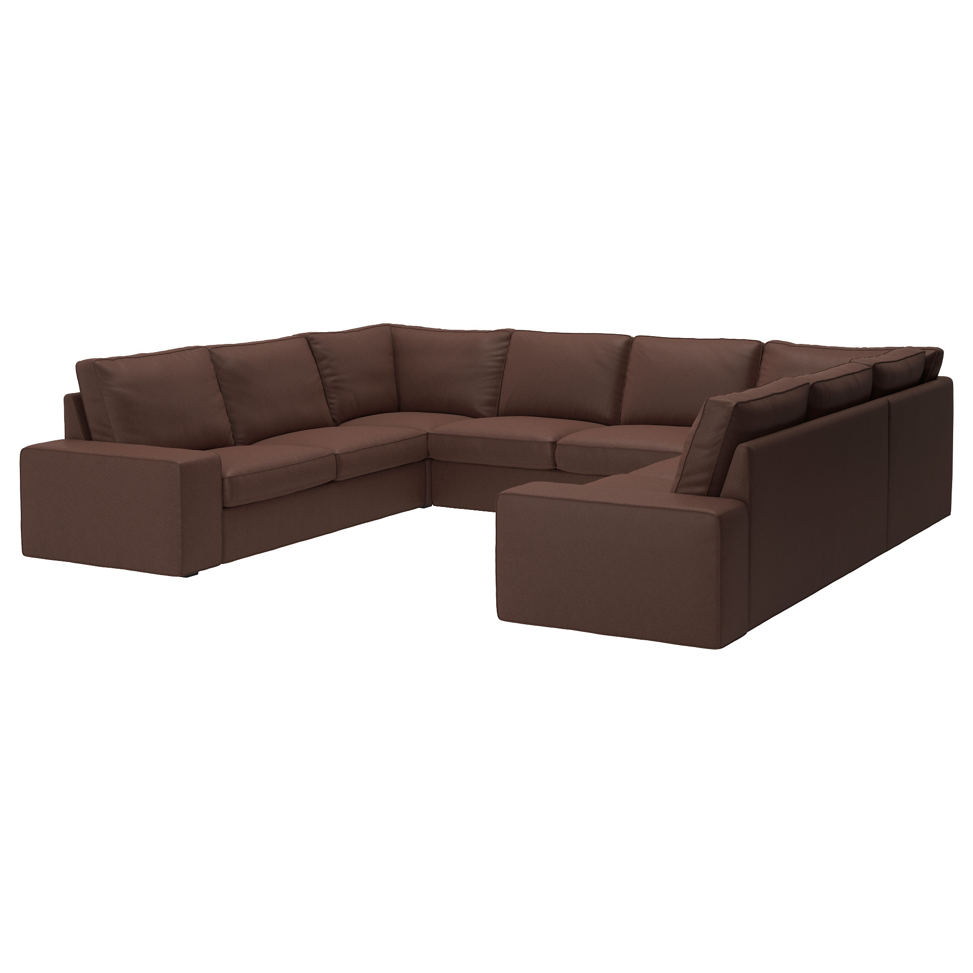 Couch u form  KIVIK U-shaped sofa, 6 seat - 8-seater/Hillared dark blue - IKEA