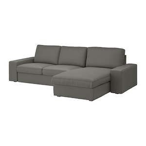 Bekleding: Met chaise longue/borred grijsgroen.