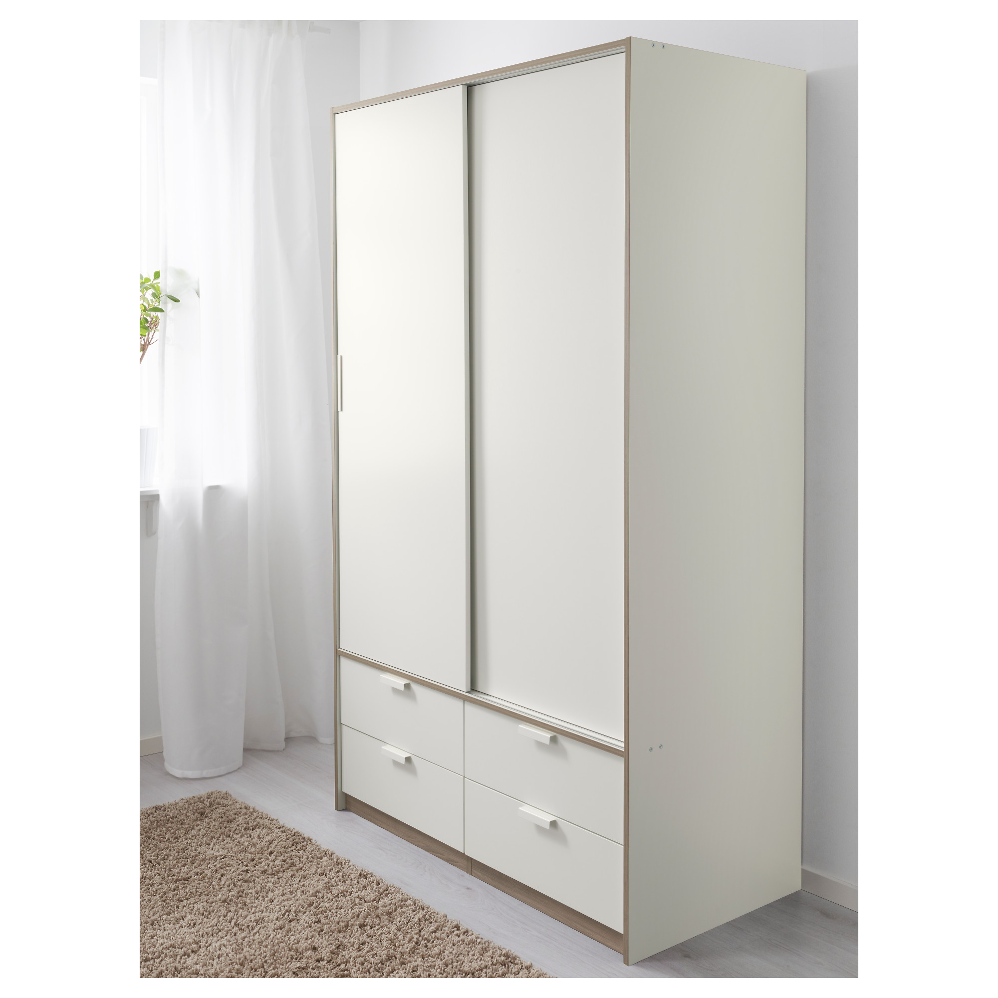 TRYSIL Wardrobe W Sliding Doors Drawers IKEA - Ikea wardrobe