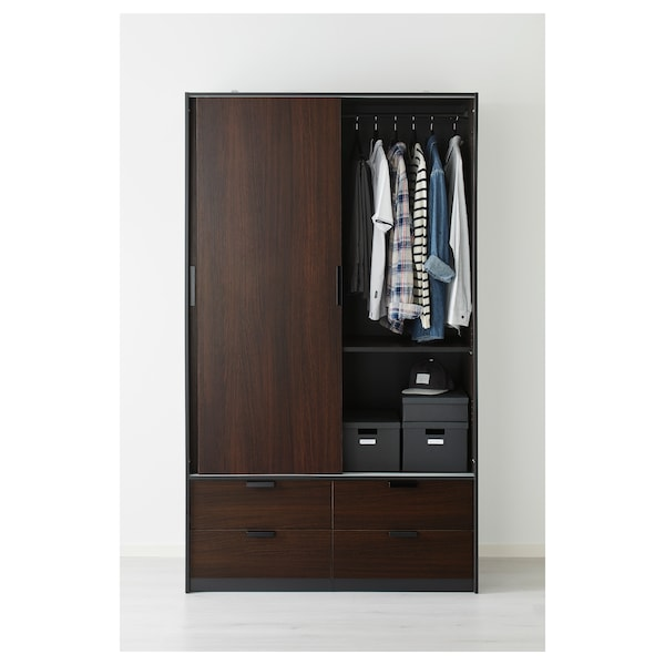 IKEA TRYSIL Wardrobe w sliding doors/4 drawers