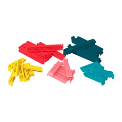 BEVARA sealing clip, set of 30, assorted colours, assorted sizes
