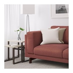 NOCKEBY Loveseat, Tallmyra Rust, Wood