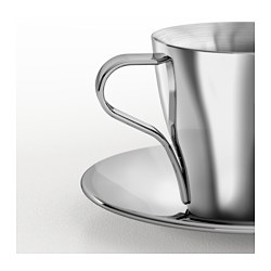 b24676637af KALASET Espresso cup and saucer, stainless steel