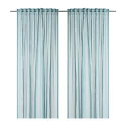 HARSTARR sheer curtains, 1 pair, light blue Length: 250 cm Width: 145 cm Area: 3.63 m²