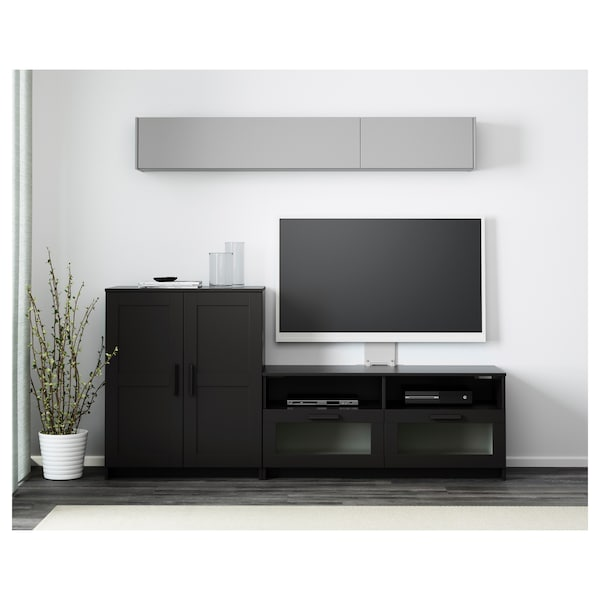 brimnes tv m bel kombination schwarz ikea. Black Bedroom Furniture Sets. Home Design Ideas