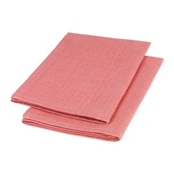 FULLVIKTIG napkin, light red Length: 45 cm Width: 45 cm Package quantity: 2 pieces