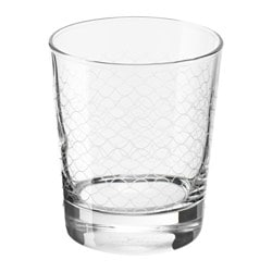 SPILLTID glass, patterned Height: 10 cm Volume: 23 cl Package quantity: 6 pack