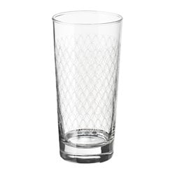 SPILLTID glass, patterned Height: 16 cm Volume: 40 cl Package quantity: 6 pack