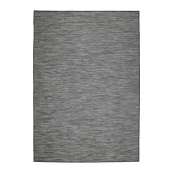 "HODDE rug flatwoven, in/outdoor, indoor/outdoor gray, black Length: 7 ' 7 "" Width: 5 ' 3 "" Thickness: ¼ "" Length: 230 cm Width: 160 cm Thickness: 5 mm"