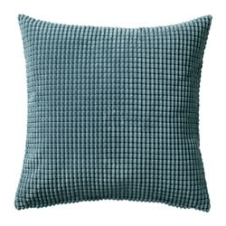 GULLKLOCKA cushion cover, blue-grey