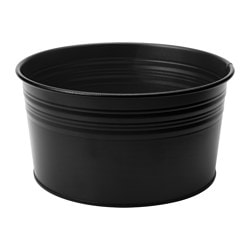 SOCKER bowl, in/outdoor, black Diameter: 20 cm Height: 10 cm