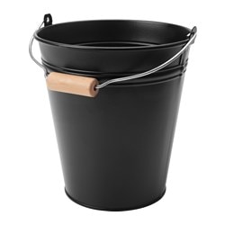 SOCKER bucket/plant pot, in/outdoor, black Outside diameter: 17 cm Height: 18 cm Volume: 2.5 l