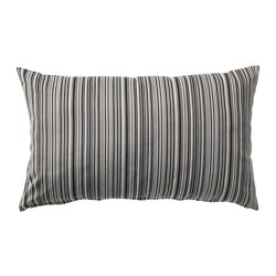 STRANDKÅL cushion cover, beige/brown